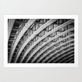 Under a Bridge in London  | Black & White | Street & Travel Photography | Fine Art Photo Print Art Print