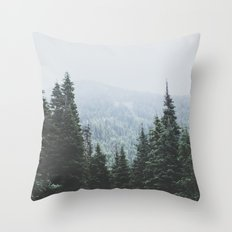 Forest Window Throw Pillow