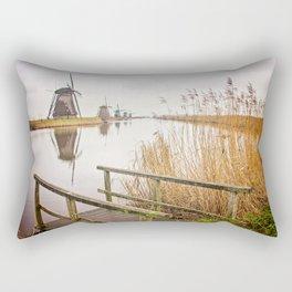 Kinderdijk- Windmills Rectangular Pillow