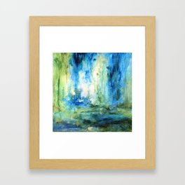 Contemporary Abstract Painting Spring Rain Framed Art Print