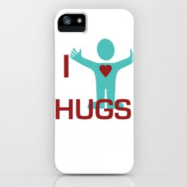 I heart Hugs iPhone Case