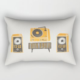 Vinyl Deck And Speakers Rectangular Pillow