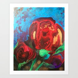 The Tulips Came Early Art Print