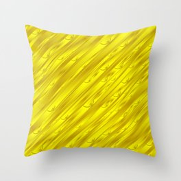 yellow abstract pattern in metal Throw Pillow