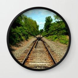 Tracks Wall Clock