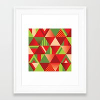 strawberry Framed Art Prints featuring strawberry by Gray