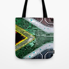 circuit board South Africa (Flag) Tote Bag
