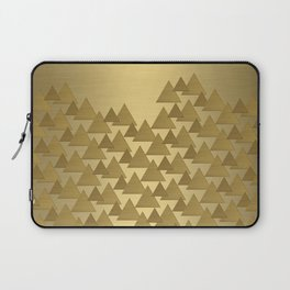 BRUSHED GOLD TRIANGLES Laptop Sleeve