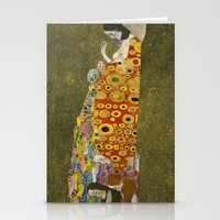 gustav klimt Stationery Cards featuring Hope II by Gustav Klimt  by Palazzo Art Gallery