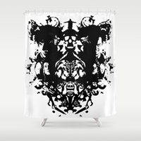 rorschach Shower Curtains featuring Sherlock Rorschach by Sempaiko