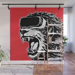 VR Lion Wall Mural
