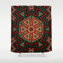 Aztec Hexagon Geometric Shower Curtain