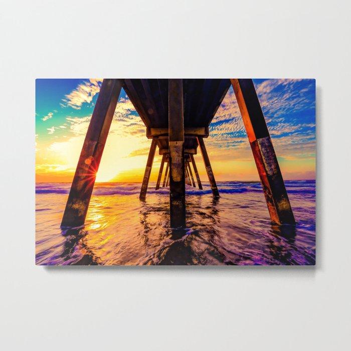 pier architecture #society6 #decor #buyart Metal Print