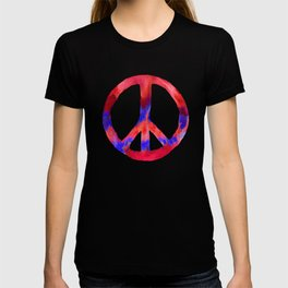 Patriotic Peace Sign Red White Blue T-shirt
