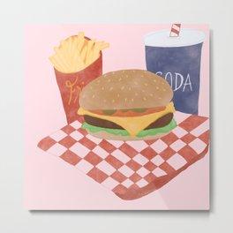Burgers and Fries? Yes Plz. Metal Print