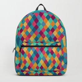 Circus Multicolor Rhombuses Backpack