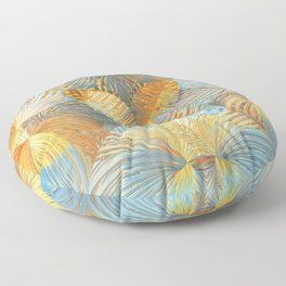 Abstract Garden Floor Pillow