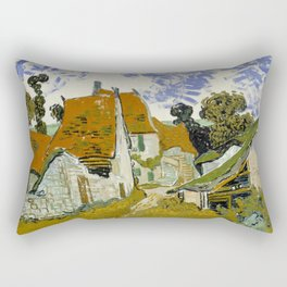 "Vincent van Gogh ""Street in Auvers-sur-Oise"" Rectangular Pillow"