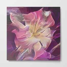 Bearded Daylily Metal Print