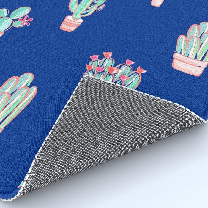 Little cactus pattern - Princess Blue Rug