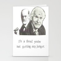 freud Stationery Cards featuring I'm A Freud You're Not Getting Any Junger by Blue Specs Studio