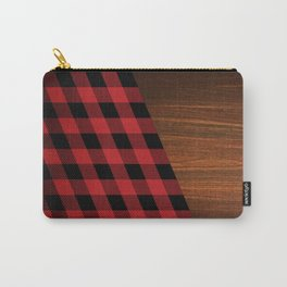 Wooden Lumberjack Carry-All Pouch