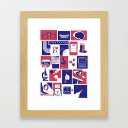 Geekology Framed Art Print