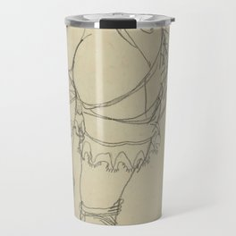 "Egon Schiele ""Girl Bending Forward, Back View"" Travel Mug"