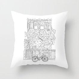New York Doorstep Throw Pillow