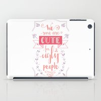 lettering iPad Cases featuring Lettering - Juno by aysenur