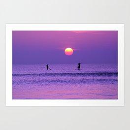 Paddle Boards at Sunrise Art Print