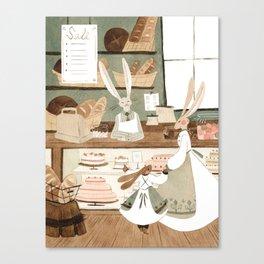 Bunny Bakery Canvas Print