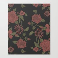 flora Canvas Prints featuring Flora by Norman Duenas