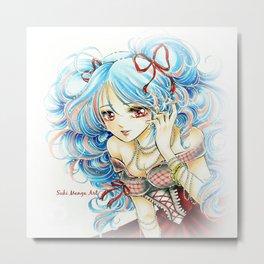 Shojo manga girl Metal Print