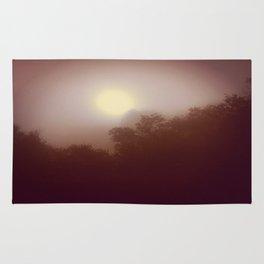 Foggy Autumn Morning Rug
