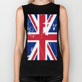 United Kingdom: Distressed Union Jack Flag Biker Tank