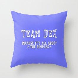 Team Dex Throw Pillow
