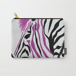 Pink Punk Rock Zebra Carry-All Pouch