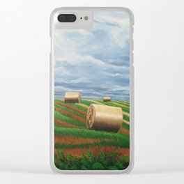 Stormy Harvest Clear iPhone Case