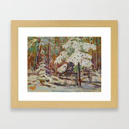Tom Thomson Snow in the Woods Canadian Landscape Artist Framed Art Print
