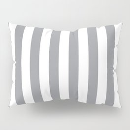 Vertical Grey Stripes Pillow Sham