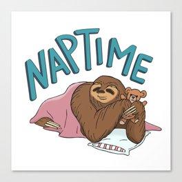 Nap Time Sloth Canvas Print
