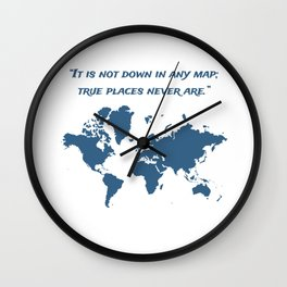 Travel Map with a Quote Wall Clock