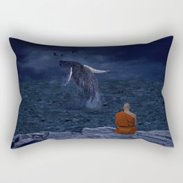La preciosa mente de un monje - The beautiful mind of a monk Rectangular Pillow