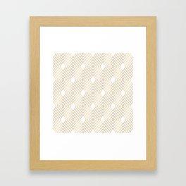 Elegant Geometric Gold Pattern Illustration Framed Art Print