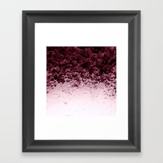 Burgundy CrYSTALS Ombre Gradient Framed Art Print