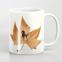 Horse on a dried leaf Coffee Mug