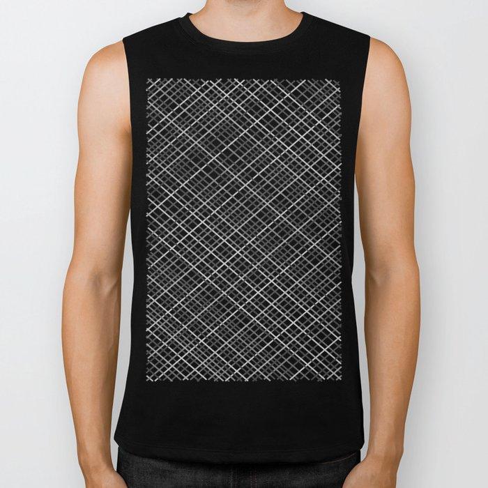 Weave 45 Black and White Biker Tank