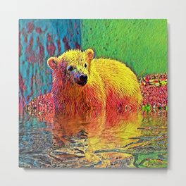 AnimalColor Bear 009 Metal Print