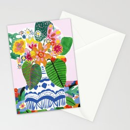 Abstract Flower Bouquet Stationery Cards